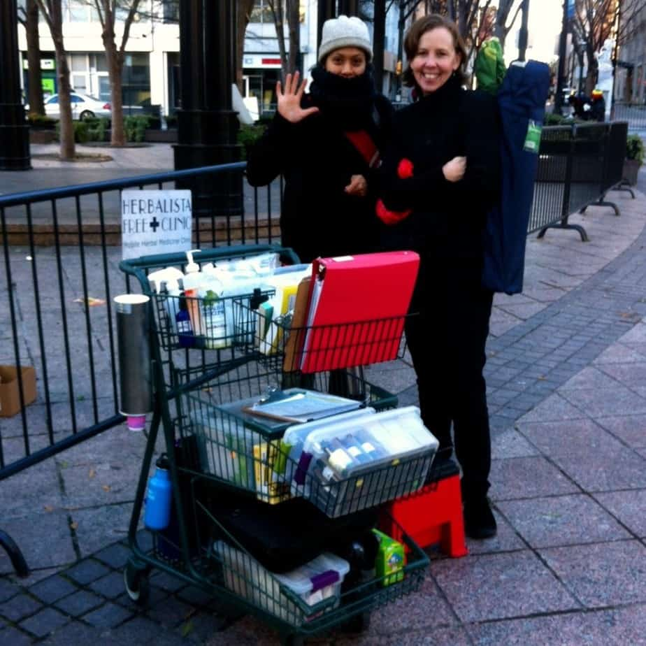The Herb Cart Service Project. Woodruff Park, ATL, GA. January 2015